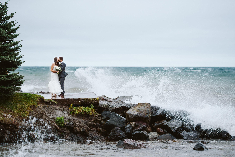 Lake Superior Waves Wedding